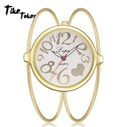 Cheap rhinestone watCh online shopping - TIke Toker Lvpai Luxury Ladies Bangle Watches for Women Rhombus Cheap Gold Rhinestone Watch Dress Quartz Wrist Clock Watches