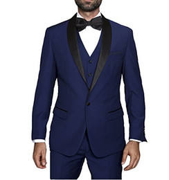 $enCountryForm.capitalKeyWord UK - Popular Design Groom Tuxedos One Button Navy Blue Shawl Lapel Groomsmen Best Man Suit Wedding Mens Suits (Jacket+Pants+Vest+Tie) J501