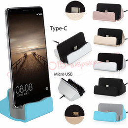 Phone Types Australia - Universal Micro Type C Dock Charging stand Cradle Charging Station for samsung galaxy s4 s6 s7 s8 htc android phone