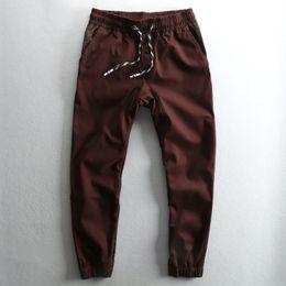 $enCountryForm.capitalKeyWord Canada - Mens Retro Printed Cotton Pants Casual Elastic Drawsrting Trousers Men Slim Leg Fashion Stylish Pencil Pants Male Clothes PT-197