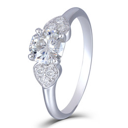$enCountryForm.capitalKeyWord UK - Transgems 10K White Gold 1.12CTW 6mm Round Octagon H Near Colorless Moissanite Engagement Rings with AccentsX82301