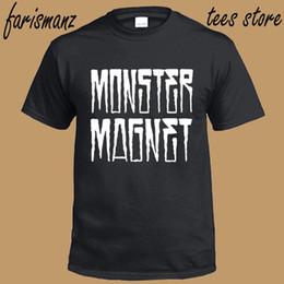 Men Fashion Logo T Shirts NZ - 2018 New Fashion Men T Shirt Office New Monster Magnet Rock Band Logo Men's Black T-Shirt Size S To 3Xl O-Neck Short-Sleeve Tee