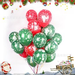Flower balloons online shopping - 12 inch printing all Christmas flowers balloon balloon Santa all g thickening Christmas figure printing