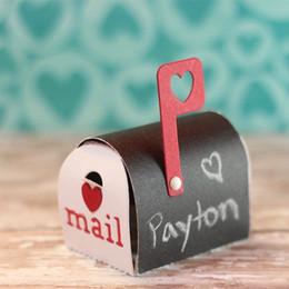 Ingrosso New Cute 3D Mailbox Metallo Taglio Muore Stencil per DIY Scrapbooking Album Carte da Goffratura di Carta Fare Mestieri Decorativi