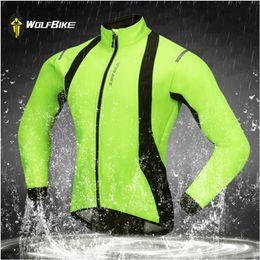 Wolfbike bicycle online shopping - Wolfbike Winter Cycling Jacket bicycle soft shell Thermal Fleece sports coat mtb bike windproof jacket Long sleeved sportswear