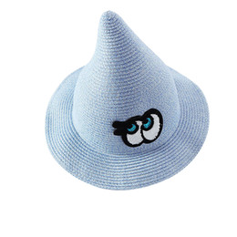 China Children Big Eyes Straw Hat Funny Beach Hat Foldable Halloween Witch for Kids (Blue) supplier straw hats for kids suppliers