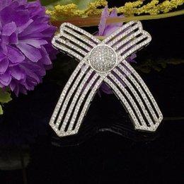 Großhandel Micro pflastern zirkon cristaux connecteur pour la pende pendentif bijoux accessoires, 38 * 38mm DIY chandail collier pendentif artisanat
