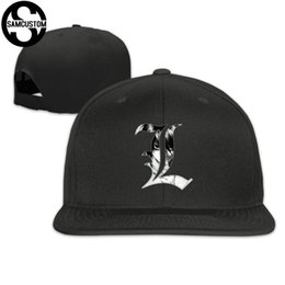 71ca2045 SAMCUSTOM cap baseball cap Side 3D printing Death Note hand Casual gorras hip  hop snapback hats wash unisex