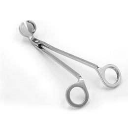 tijera tijera tesoura herramienta Despabiladera 18 cm de acero inoxidable de mecha de vela de recorte de aceite de la lámpara del ajuste del cortador de las podadoras de gancho en venta