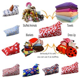 $enCountryForm.capitalKeyWord NZ - 79 design Diamond Shape Storage Bag Kids Stripe Stuffed Animal Plush Toy Bean Bag Soft Pouch Stripe Fabric Chair Sofa Toys Bag LC795-1