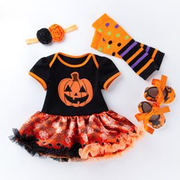 da770eb9778db New Arrival Halloween Short Sleeved Dress 0-2 Years Old Female Baby  Children s Four Pieces Baby Jumpsuit