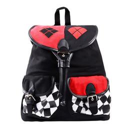 Batman Cartoon Bags UK - Batman Suicide Squad Harley Quinn Backpack Daypack  School Shoulder Bag Backpack 0ec3d482f0b25