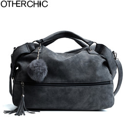 $enCountryForm.capitalKeyWord NZ - OTHERCHIC Hot Sale Suede Leather Tassel Bags Women Brand Designer Handbags Quality Tote Women Shoulder Messenger Bags L-7N11-15