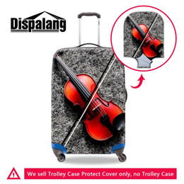 $enCountryForm.capitalKeyWord NZ - Travel On Road Thick Elastic Dust Luggage Protective Cover For 18-30 Inch Trunk Violin Printing Women Travel Accessories Waterproof Covers