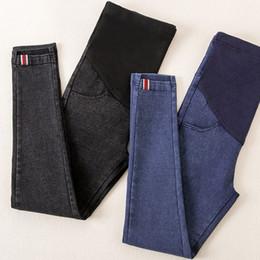 5ce5665eb Pantalones vaqueros de maternidad de cintura elástica Pantalones para el embarazo  Ropa de algodón para mujeres embarazadas Legging Otoño Invierno 2018 Otoño