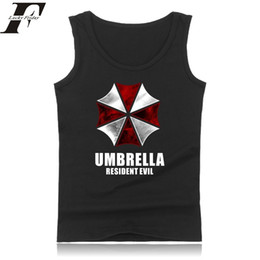 ingrosso i film di resident evil-Resident Evil Sleeveless Summer Mens fitness bodybuilding Canotte Film Canottiere Game Of Terror abbigliamento fitness Vest