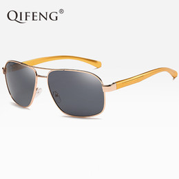 fbd568ba8c9 QIFENG Pilot Polarized Sunglasses Men Fashion Driver Aviation AL-MG Sun  Glasses For UV400 Male Driving Fishing Oculos de QF016