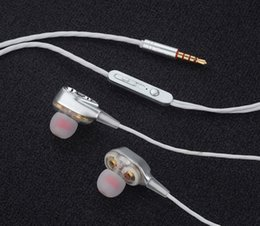 Wholesale Rovtop Wired earphone High bass dual drive stereo In Ear Earphones With Microphone Computer earbuds For Cell phone