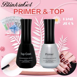 Uv Coating Liquid NZ - BlinkinGel Mineral Primer Nail UV 15 ml Rubber Base Liquid Primer 15 ml Nail Top Coat Multi-Use Top & Base Coat for