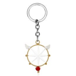 $enCountryForm.capitalKeyWord NZ - Fashion Anime Jewelry Card captor Cardcaptor Sakura Star Wings Wands Keychain Keyrings Bag Charm Car Key Chain for Women Girl