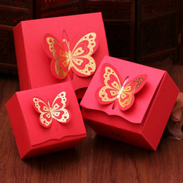 BonBonniere gifts online shopping - New Hollow out butterfly flowers Wedding box Candy Boxes gift box wedding bonbonniere wedding favour boxes