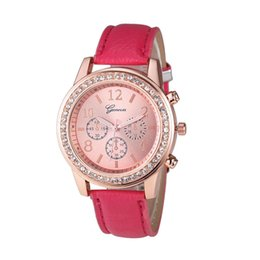 China Fashion Women Geneva Roman Watch Lady Leather Band Analog Quartz Wrist Watch luxury brand bracelet for women relojes mujer supplier geneva wrist watches ladies brands suppliers