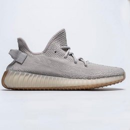 Chinese  Newest Static Refective Kanye West semi frozen Butter gum sole high quality Zebra Red Sesame Men Women Sneakers Sports shoes With Box manufacturers