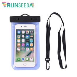 Swimming Pack Australia - Runseeda Lanyard Swimming Bag Waterproof Mobile Phone Pouch Smartphone Sealed Pack Swimming Pool Beach On Sea Diving Storage Bag