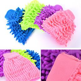 Chenille Towels Wholesale Australia - New Multi-colors Microfiber Snow Neil Fiber High Density Car Wash Mitt Car Wash Gloves Towel Rags Cleaning Gloves Tools
