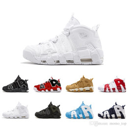 b0332dcae15 2018 new air more uptempo Basketball Shoes For men Mens High Quality  Designer Black Grey White Oreo Scottie Pippen Sneakers Zapatos 7-12