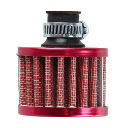 Wholesale Dia mm Red Car Auto Motor Vehicle Air Filter Cold Air Intake Filter Cleaner Turbo Vent Crankcase Breather Car Accessories