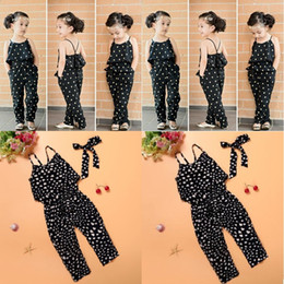 $enCountryForm.capitalKeyWord Australia - Girls Casual Sling Clothing Sets romper baby Lovely Heart-Shaped jumpsuit cargo pants bodysuits kids clothing children Outfit
