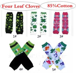 Colorful Infant Socks Australia - ST. Four Leaf Clover Baby Easter Leg Warmer Children Skull Leg Warmers Baby Leggings Socks kids Chevron Leg Warmers Infant Colorful Socks