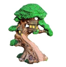 mini decorations UK - Elf Tree House Miniature Fairy Garden Home Houses Decoration Mini Craft Micro Landscaping Decor DIY Accessories