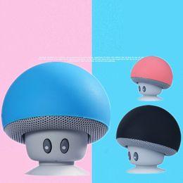 Dock Speakers Australia - New Bluetooth Sound Box Wireless Bluetooth Speaker Creative Cartoon Mushroom Head Portable Desktop of Mobile Scaffold Mini Speakers