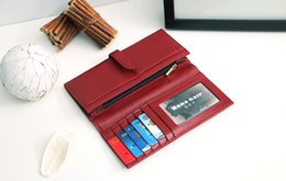 Red Credit Card Wallet NZ - 2019. Leather Wallet. Small. woman's wallet. Mini. Soft cowhide. Long. Credit Card. Wallets & Holders. Black. Red. Zero purse. Pure color. Y