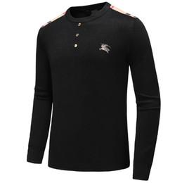 Outono e inverno dos homens de comércio exterior high-end nova camisola de mangas compridas dos homens moda treliça costura suéter de cashmere venda por atacado