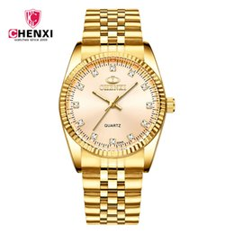 $enCountryForm.capitalKeyWord UK - Fashion Chenxi olden Clock Gold Men Watch Full Stainless Steel Quartz Watcheswholesale Woman Lovers Wristwatches 004a