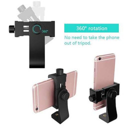 cell phone tripod adapter UK - Universal Smartphone 360 Degree Tripod Adapter Cell Phone Holder Clip Holder Mount For iPhone Camera