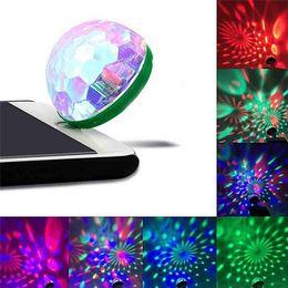 CARPRIE USB Mini LED RGB Disco Bühne Licht Party Club DJ KTV Weihnachten Magie Telefon Ball Lampe td0507 Direktversand
