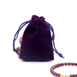 $enCountryForm.capitalKeyWord UK - 5x7cm 100Pcs lot Purple Drawstring Velvet Bags Small Jewelry Rings Necklaces Packaging Bags Customize LOGO cost extra Wholesale
