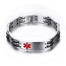 $enCountryForm.capitalKeyWord NZ - Men and Women Stainless Steel Link Chain Medical Alert ID Bracelet for Men Jewelry , Free