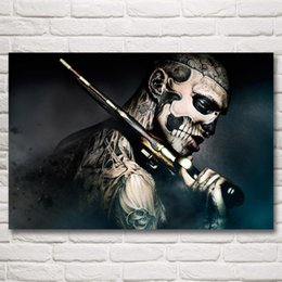$enCountryForm.capitalKeyWord Canada - 1 Pcs Rick Genest Ronin Gun Tattoo Rico the Zombie Machine Art Silk Poster Prints Home Decor Pictures 24x36 Inch