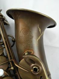 Discount e saxophone - Factory Outlet Saxophone Alto Mark VI Musical Instruments Professional Alto Sax Bronze Antique Brass Gold Mouthpiece Ree
