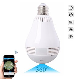 Chinese  360 Degree mini Panoramic Camera 960P HD WiFi Camera Light Bulb LED Lamp Security Video Recorder Home Security Camera IP Cam manufacturers