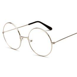 525ff042ef New Fashion Harajuku Retro Round Glasses Frame Women Metal Eyeglasses  Optical Prescription Lens Vintage Famous Top Plain Mirror