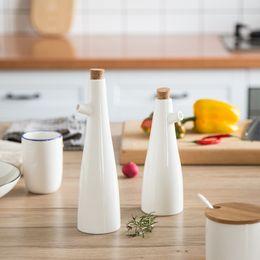 $enCountryForm.capitalKeyWord NZ - Ceramic Storage Bottles Jars Oil Pot Soy Sauce Vinegar Seasoning Can Gravy Boats Porcelain White Kitchen Cooking Tools Bottles
