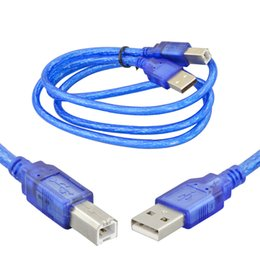 Wholesale KEYES cm USB Cable Special for Arduino Uno R3 Mega R3 Also for Printer Transparent blue