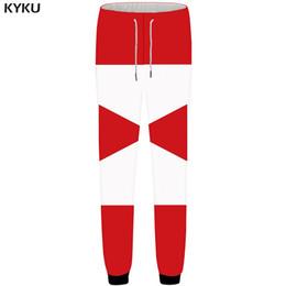 graphic print joggers men 2019 - KYKU Graphics Pants Men Geometry Sweatpants Red 3d Print Pants Joggers Britches Bodybuilding Funny Mens Trousers Autumn