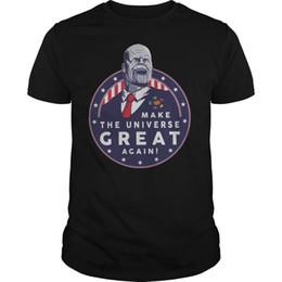 Le président Thanos rend l'univers encore une fois très amusant T-shirt noir Trump Thanos noir T-shirt 100% coton en Solde